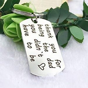 NEW Sentimental Silver Keychain Dad Father's Day